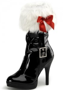 sexy santa costume boots