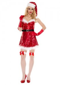 sexy sequin santa costume