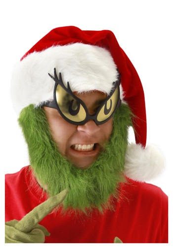 grinch costume hat and beard